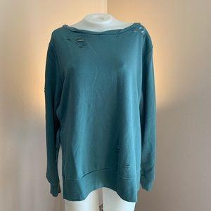 Tops - Distressed Sweatshirt Top
